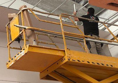 Bandas o franjas cortafuegos en Sevilla. Empresa certificada para la planificación e instalación de sistemas de protección pasiva frente al fuego.